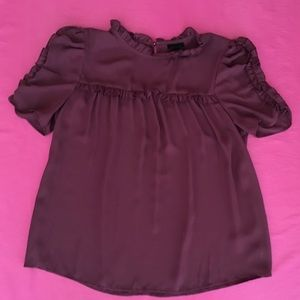 Who What Wear Tops - Who What Wear Plum Top